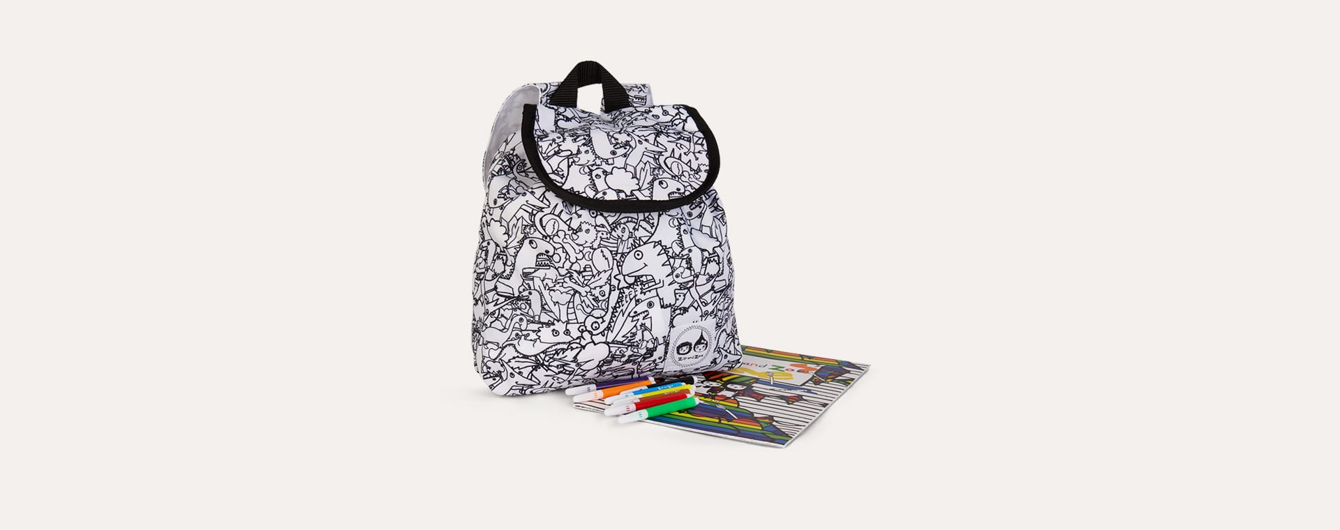 Dino Babymel Zip and Zoe Colour and Wash Backpack