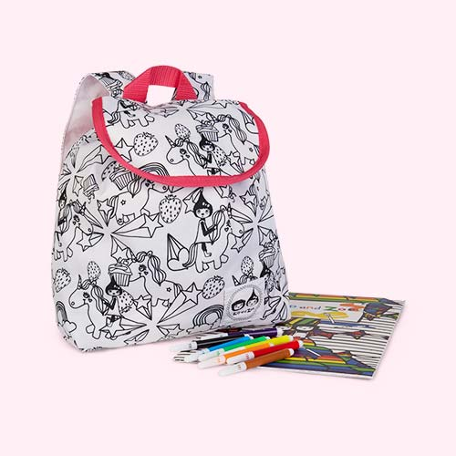 Unicorn Babymel Zip and Zoe Colour and Wash Backpack