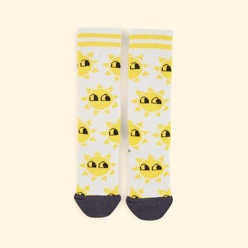 White The Bonnie Mob Sunshine Knee Socks