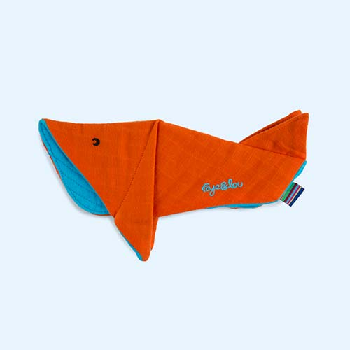 Orange Blue Faye & Lou Muslin Comforters Winston Whale