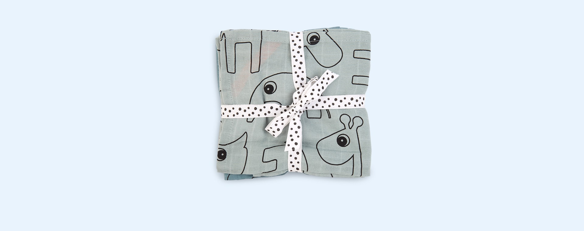 Blue Done By Deer Burp Cloth 2 Pack