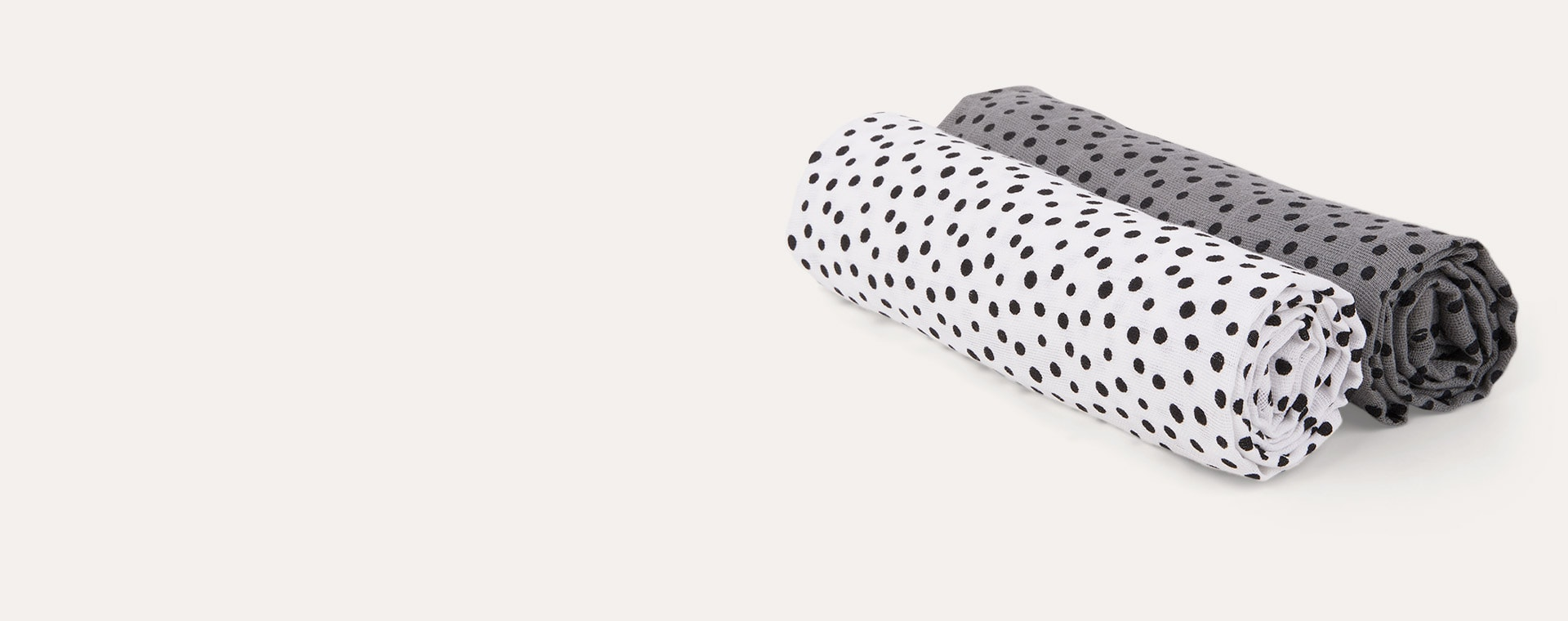 Happy Dots Grey Done By Deer 2-Pack Burp Cloth