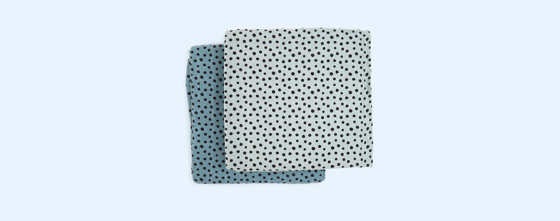 Blue Done By Deer Happy Dots Swaddle 2 Pack