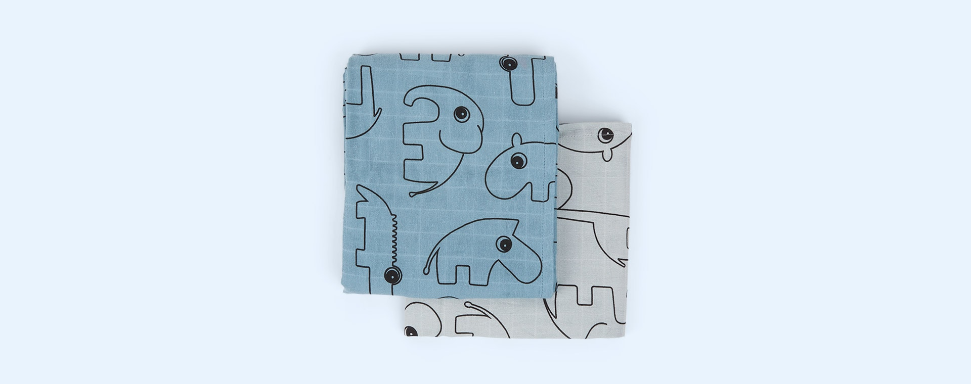 Contour Blue Done By Deer 2-Pack Swaddle