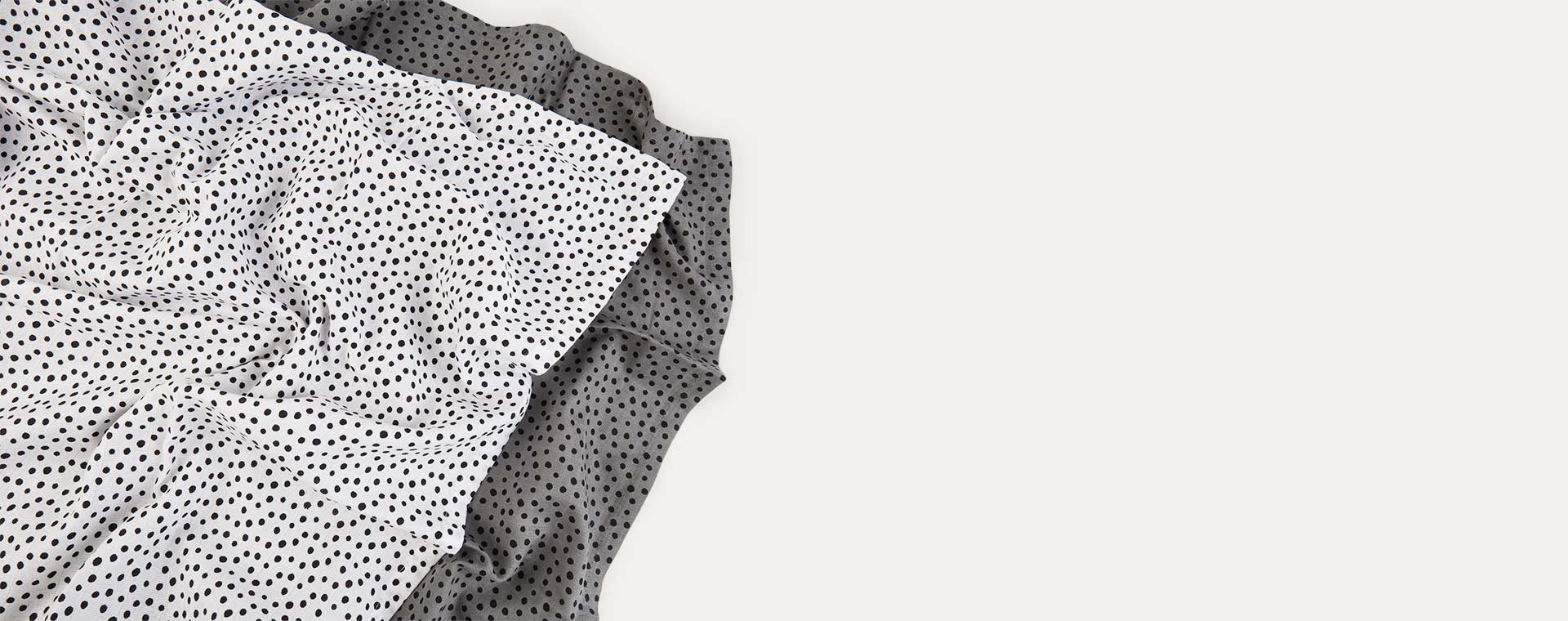 Grey Done By Deer Happy Dots Swaddle 2 Pack