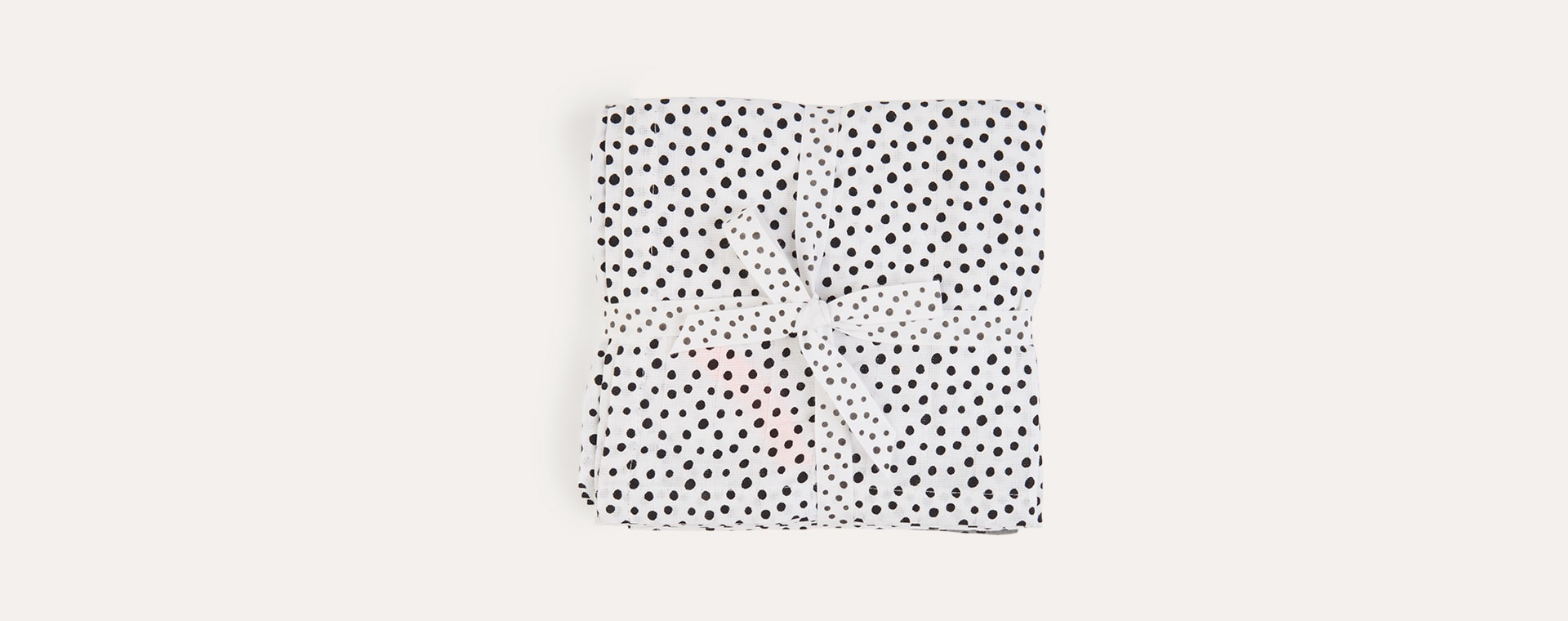 Happy Dots Grey Done By Deer 2-Pack Swaddle