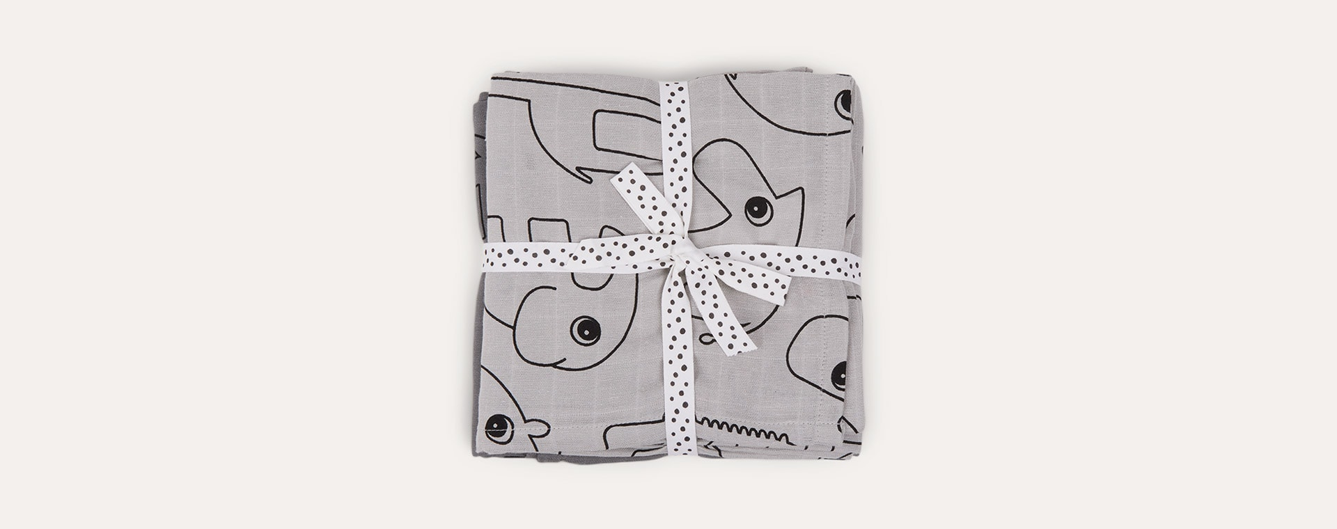Contour Grey Done By Deer 2-Pack Swaddle