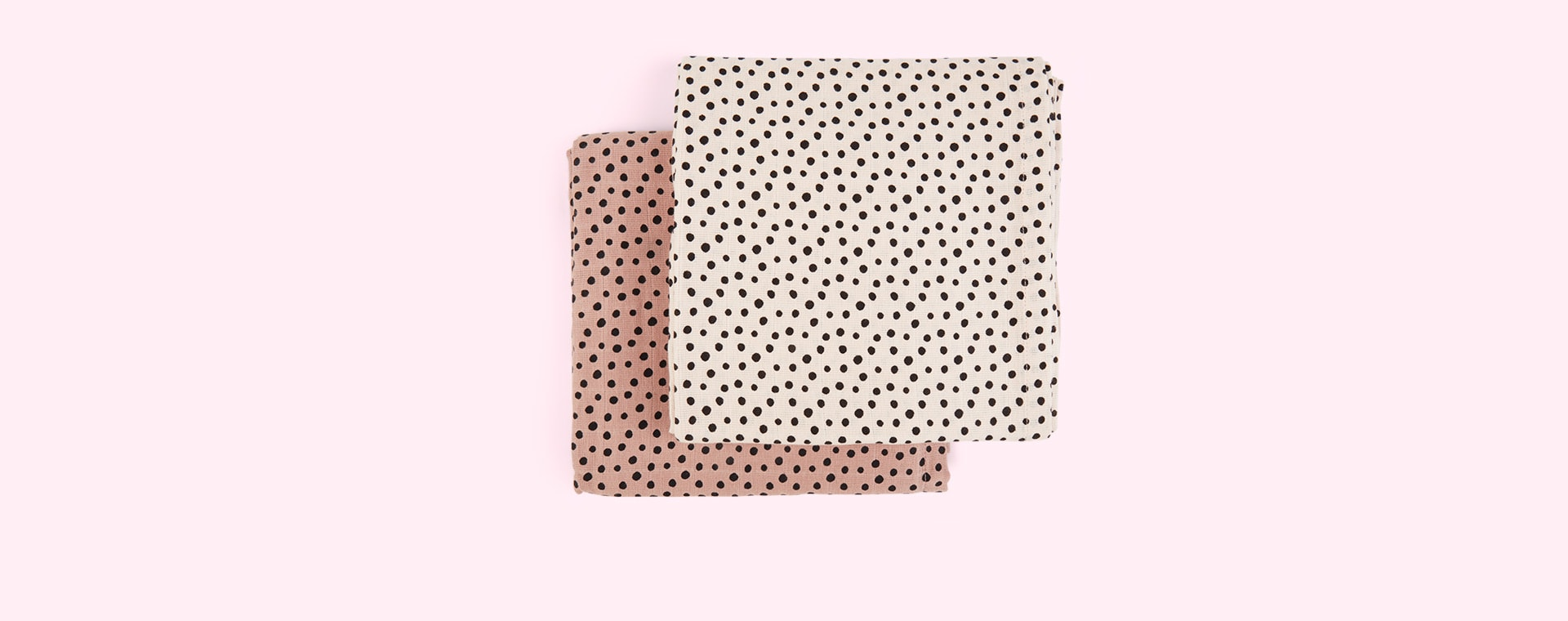Powder Done By Deer Happy Dots Swaddle 2 Pack