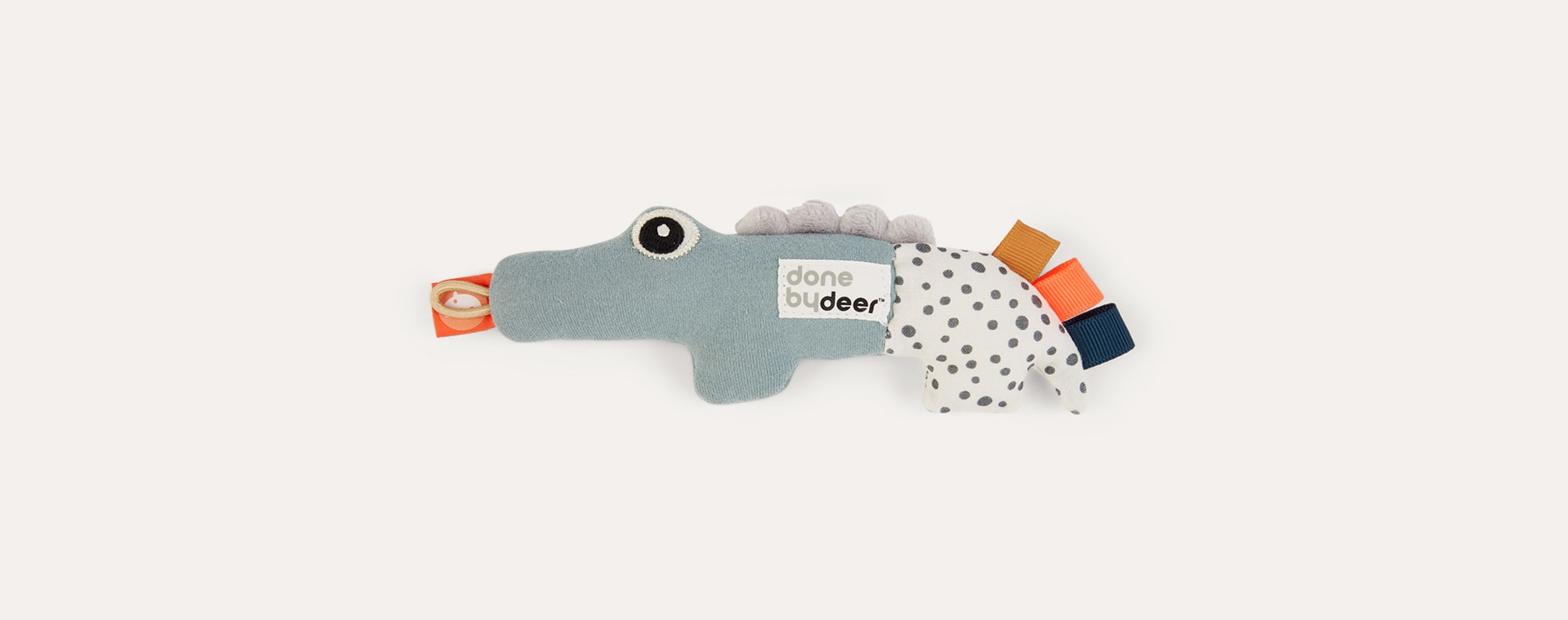 Multi Done By Deer Tiny Sensory Rattle Croco