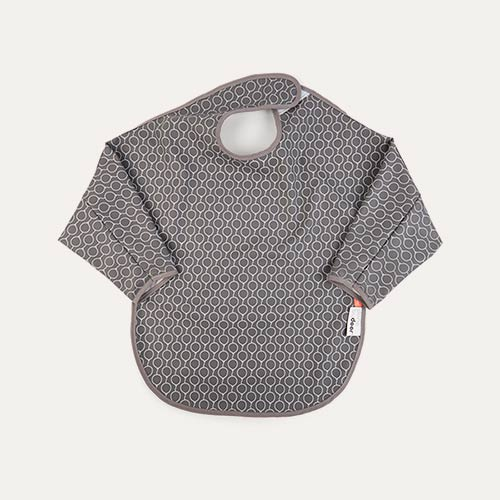 Grey Done By Deer Long Sleeved Balloon Bib