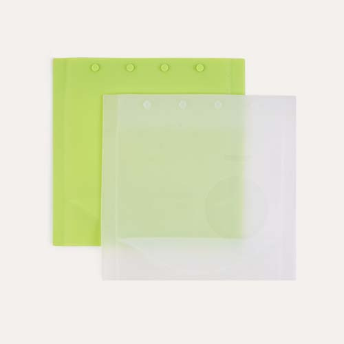 Clear & Lime Go Sili 2 Pack Snack Bag