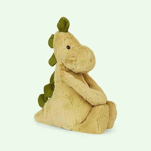 Green Jellycat Bashful Dino Medium