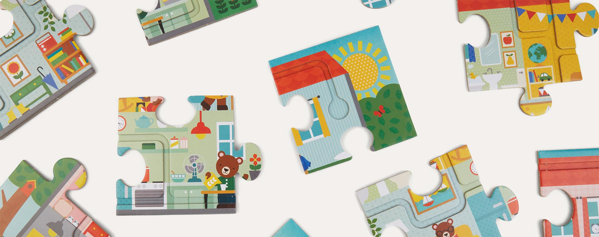 In Our House Petit Collage Follow And Spot Floor Puzzle