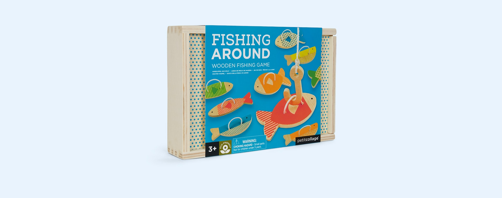 Neutral Petit Collage Fishing Around Wooden Fishing Game