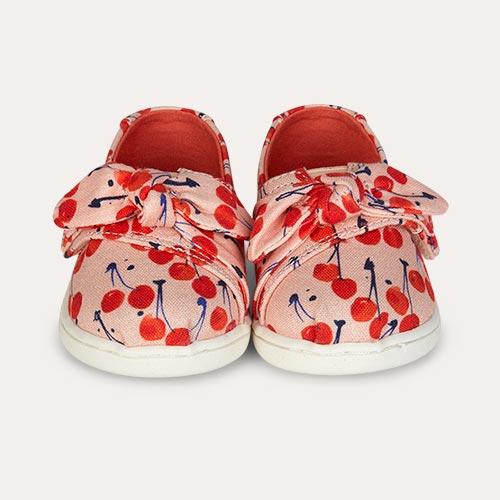 Coral Pink TOMS Alpagarta Cherry Espadrille