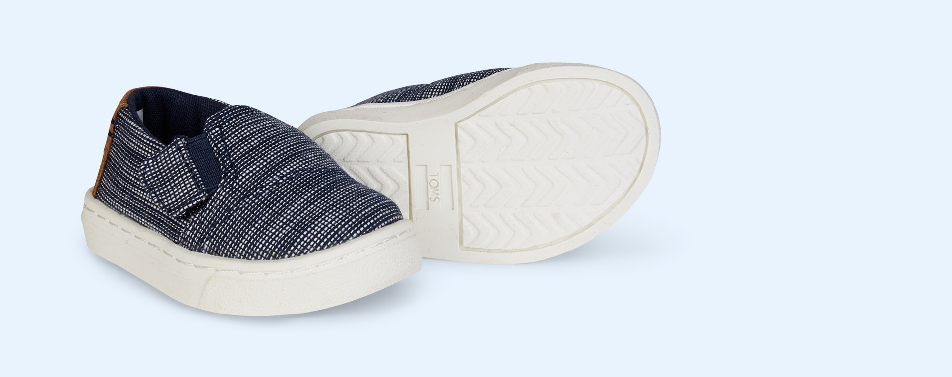 Navy Stripe Chambray TOMS Luca Slip On Shoe