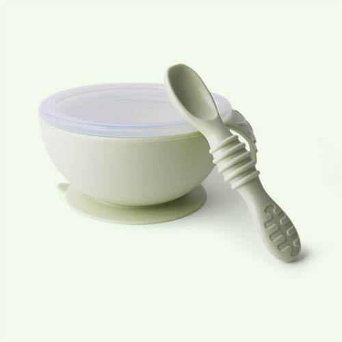 Sage Green Bumkins First Feeding Set