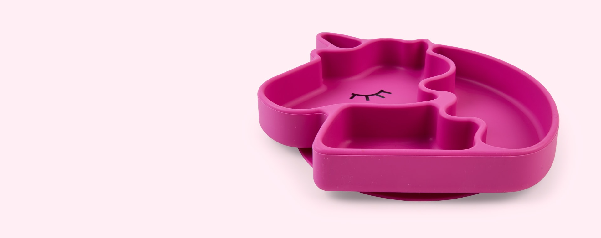 Unicorn Bumkins Silicone Animal Grip Dish