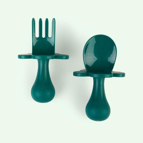 Forest Green Grabease Cutlery Set