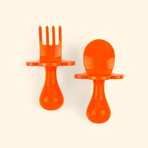 Orange Grabease Cutlery Set