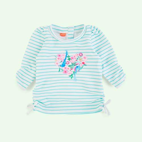 Aqua Sunuva Baby Girls Classic Rash Vest