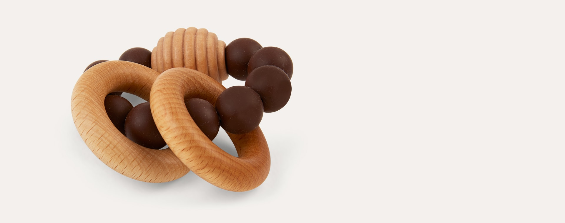 Chocolate Blossom & Bear Beehive Rattle