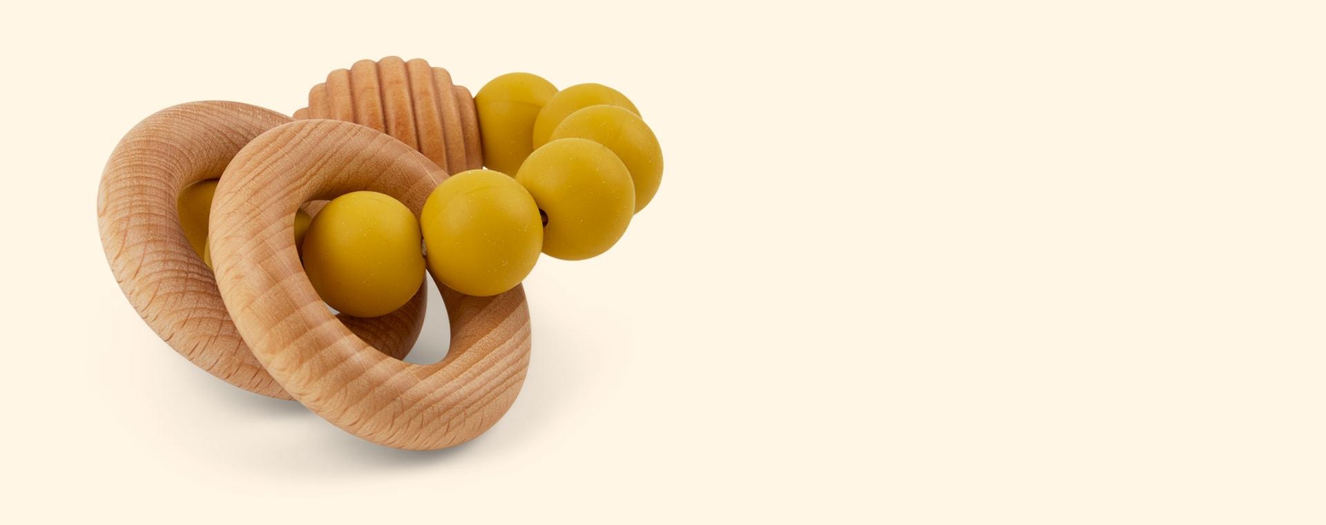 Mustard Blossom & Bear Beehive Rattle