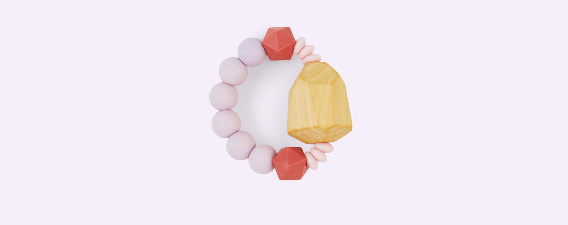 Lilac Blossom & Bear Geo Grasping Toy