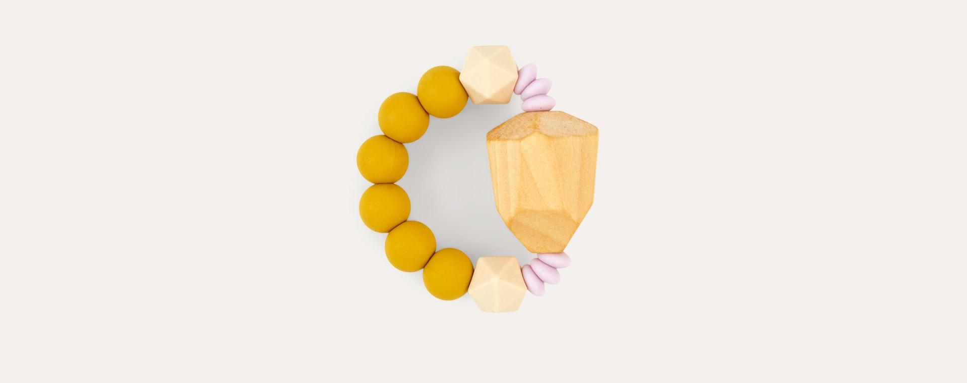 Mustard Blossom & Bear Geo Grasping Toy