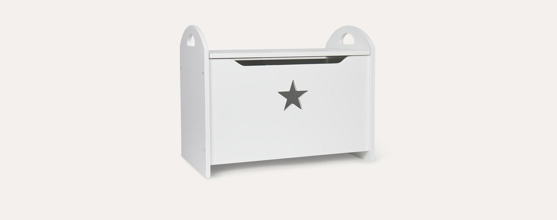 White Kid's Concept Star Toy Chest