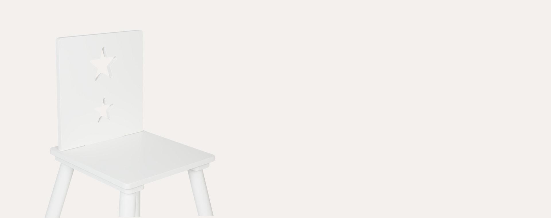 White Kid's Concept Star Chair