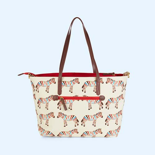 Zebra Crossing Pink Lining Notting Hill Tote Changing Bag