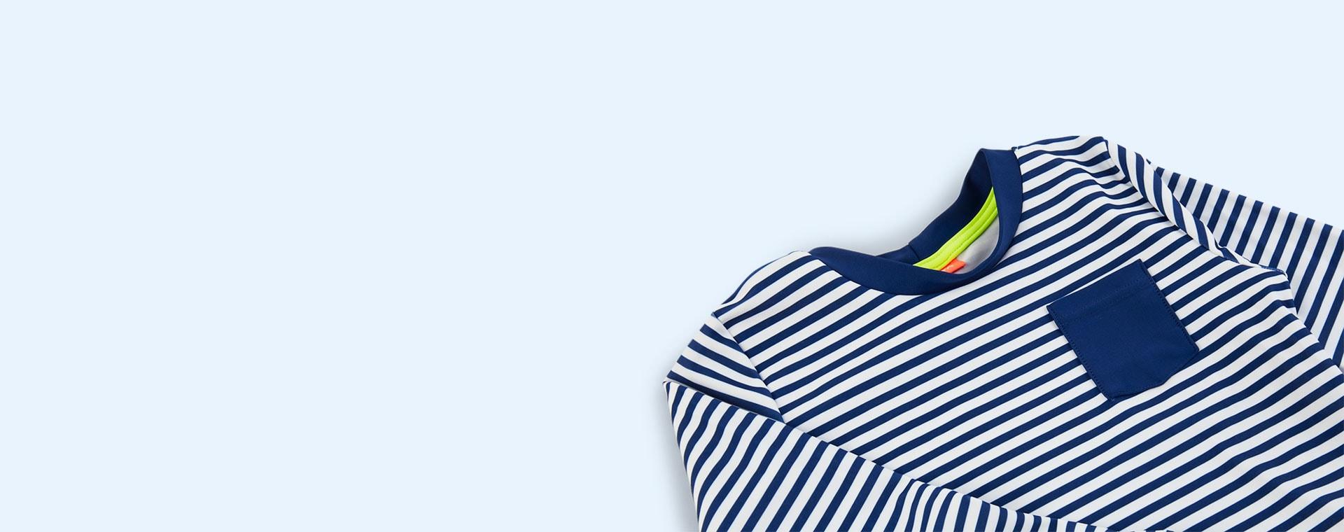 Blue/White Sunuva Boys Classic Rash Vest