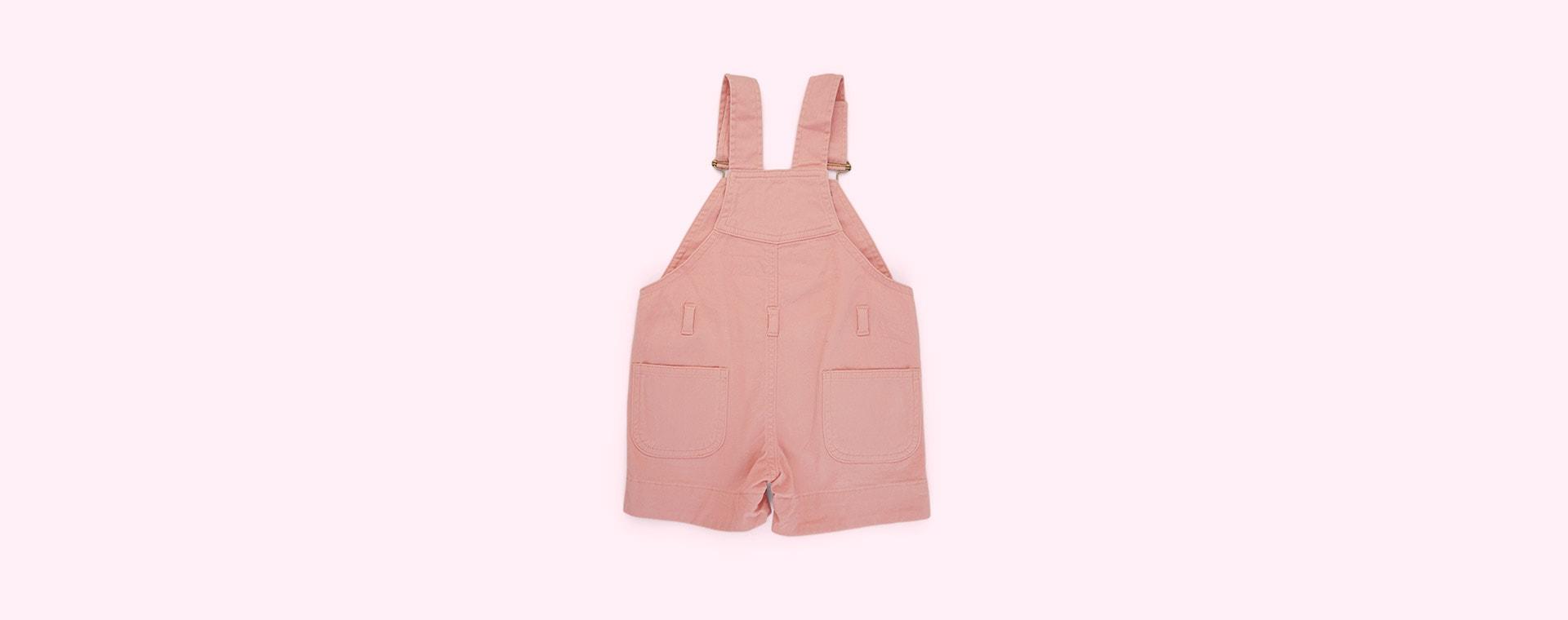 Pink Denim Dotty Dungarees Denim Short Dungarees