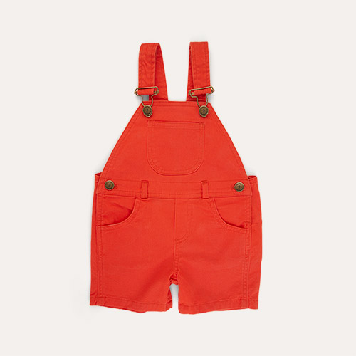 Red Denim Dotty Dungarees Denim Short Dungarees