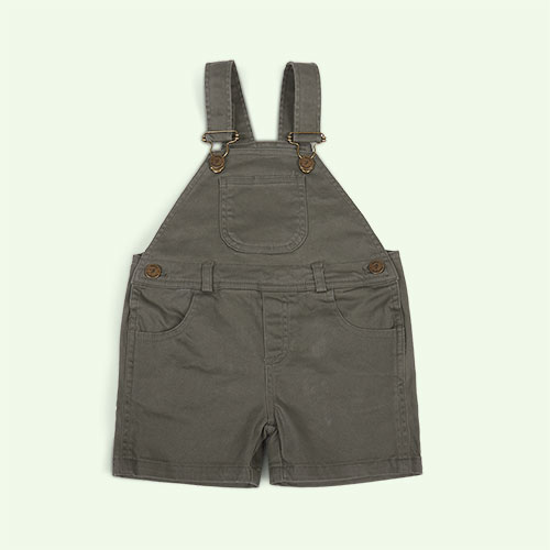 Olive Dotty Dungarees Cotton Short Dungarees