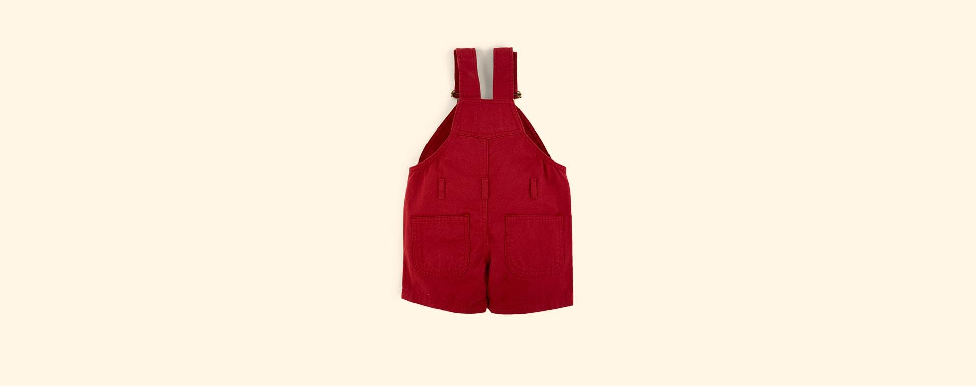 Crimson Dotty Dungarees Cotton Short Dungarees