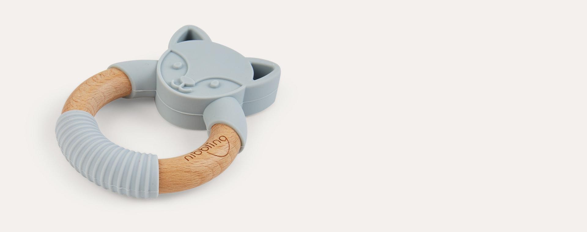 Flex Fox Grey Nibbling Fox Teething Ring