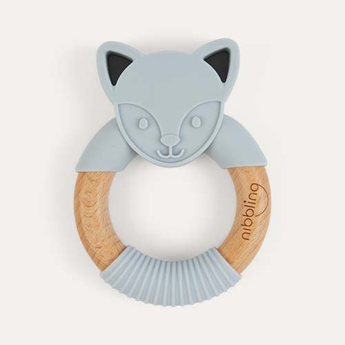 Flex Fox Grey Nibbling Fox Teething Ring