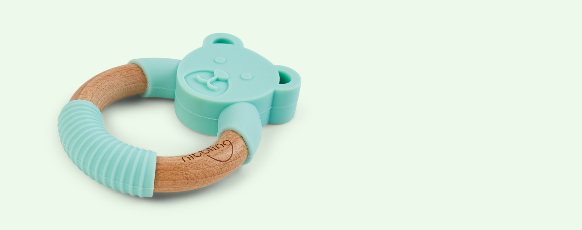 Ted Bear Mint Nibbling Bear Teething Ring