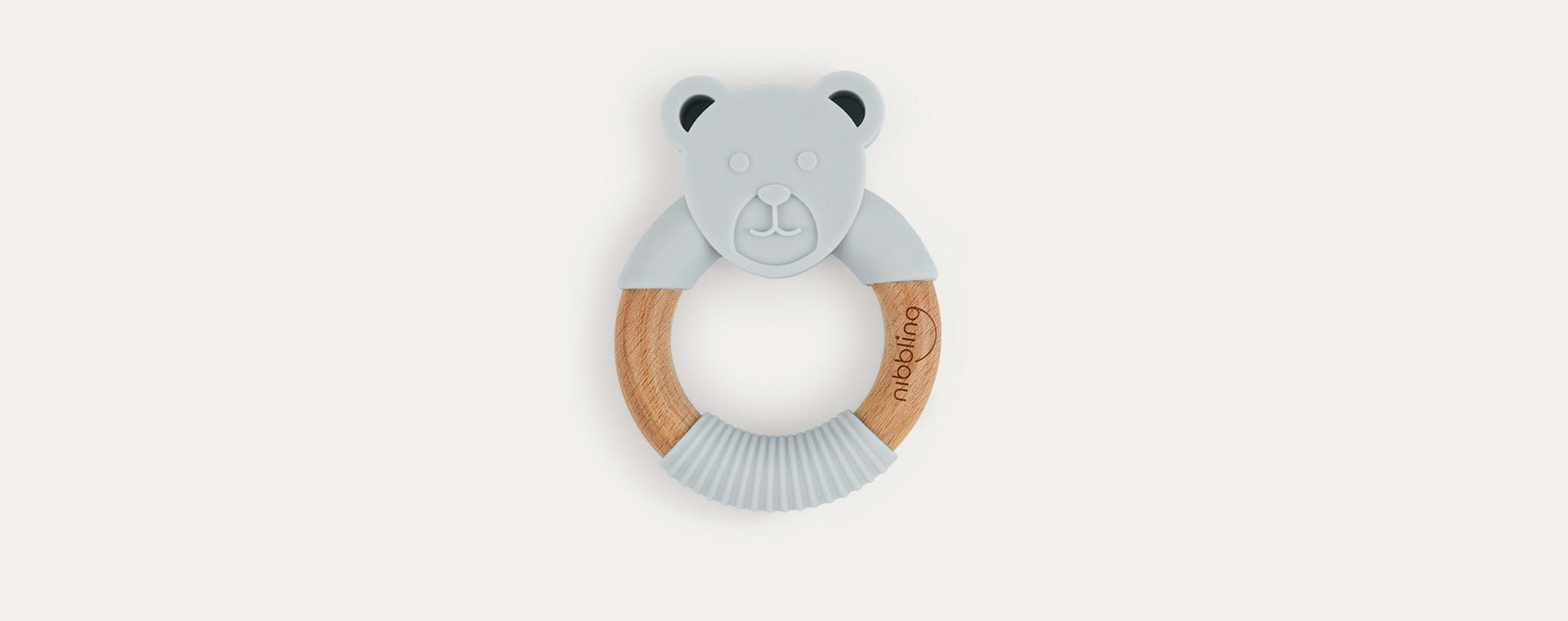 Ted Bear Grey Nibbling Bear Teething Ring