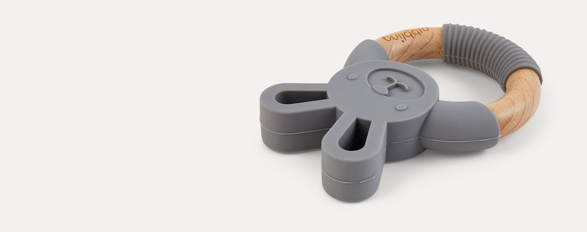 Bo Bunny Dark Grey Nibbling Bunny Teething Ring