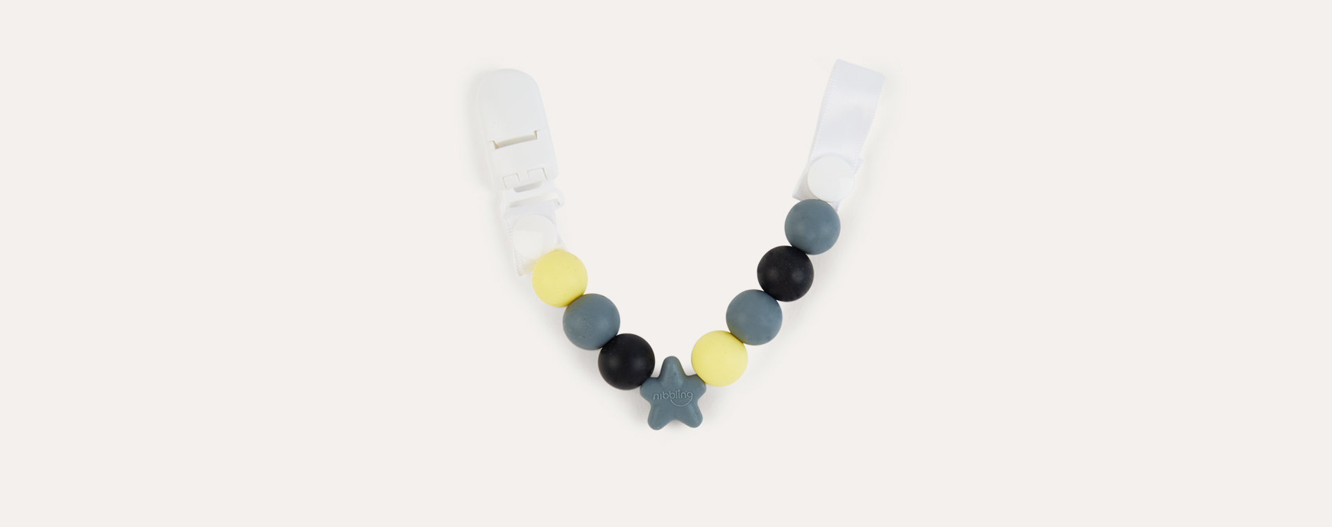 Grey & Yellow Nibbling Comet Dummy Clip