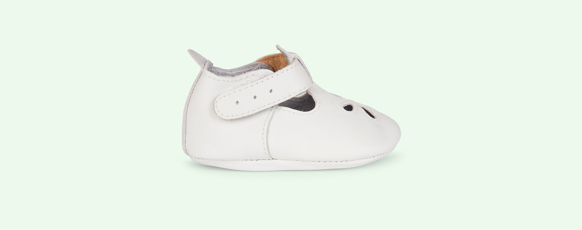 White Bobux Daisy Soft Sole