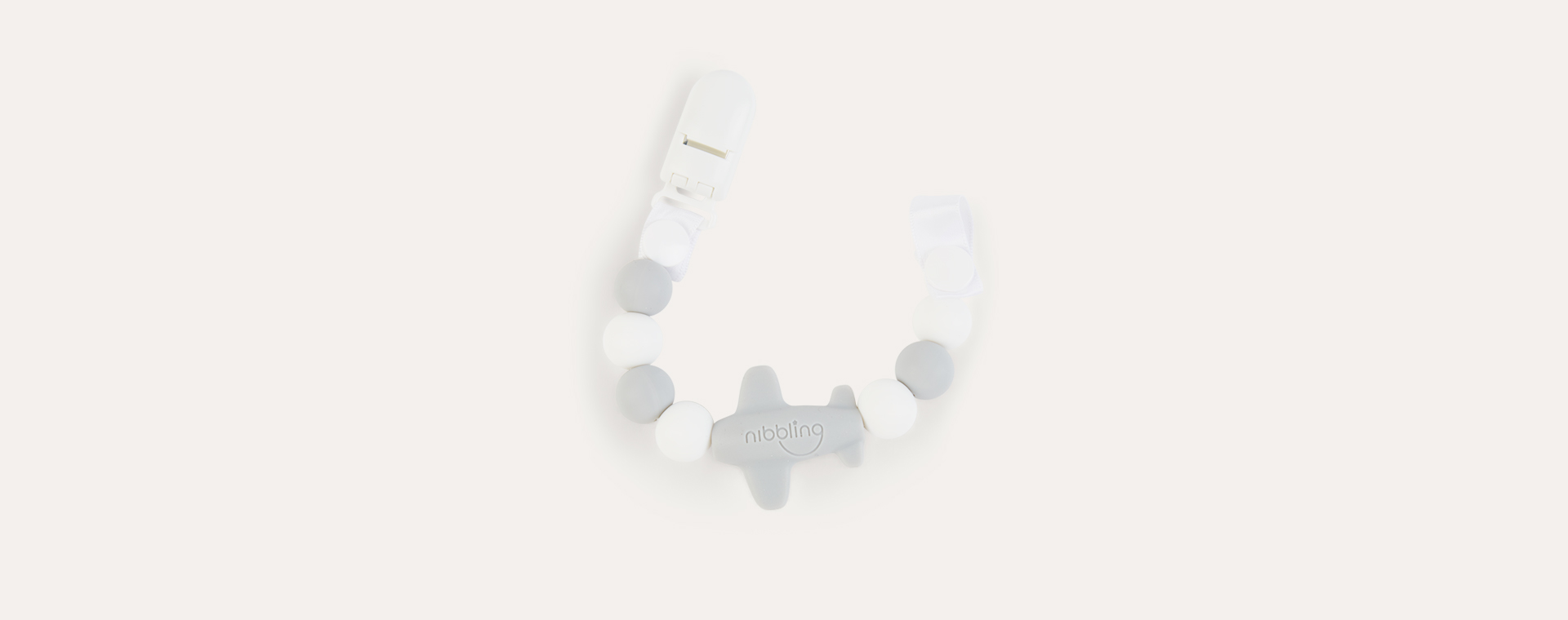 Grey Nibbling Jet Set Dummy Clip
