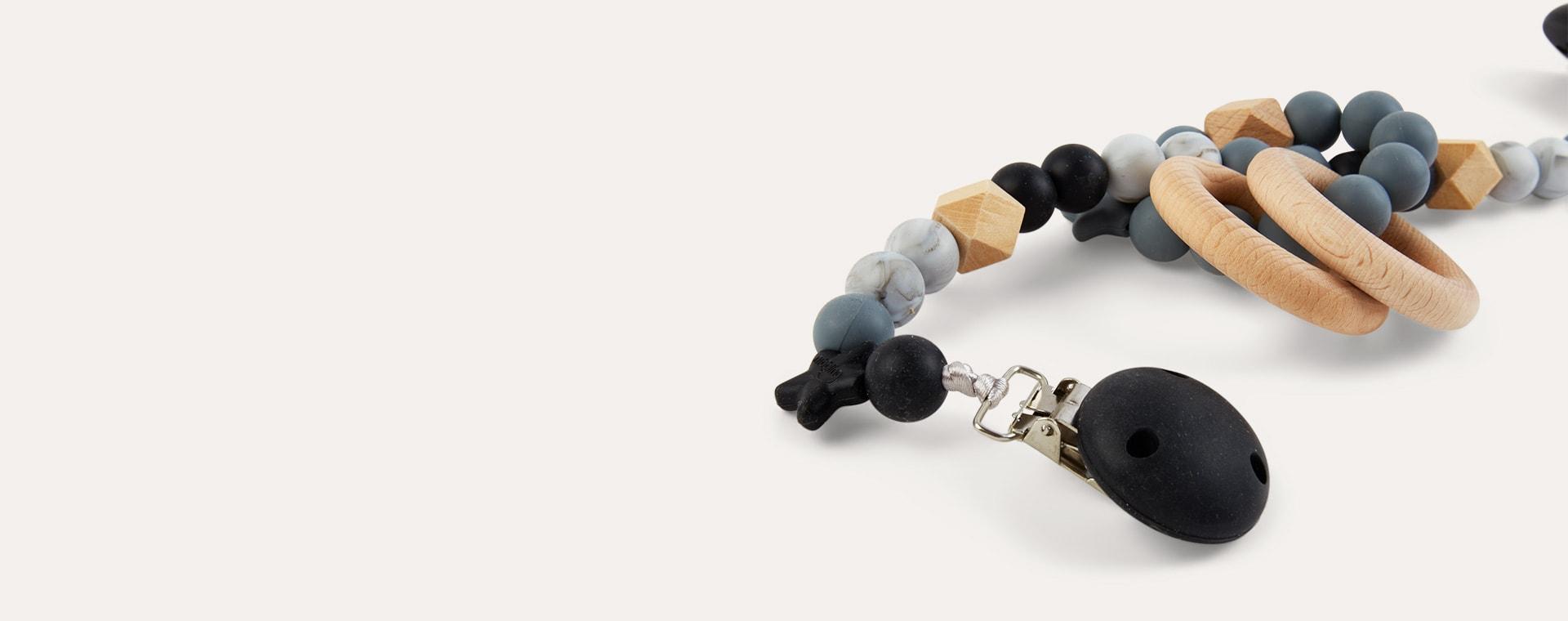 Black & Marble Nibbling Pram Mobiles