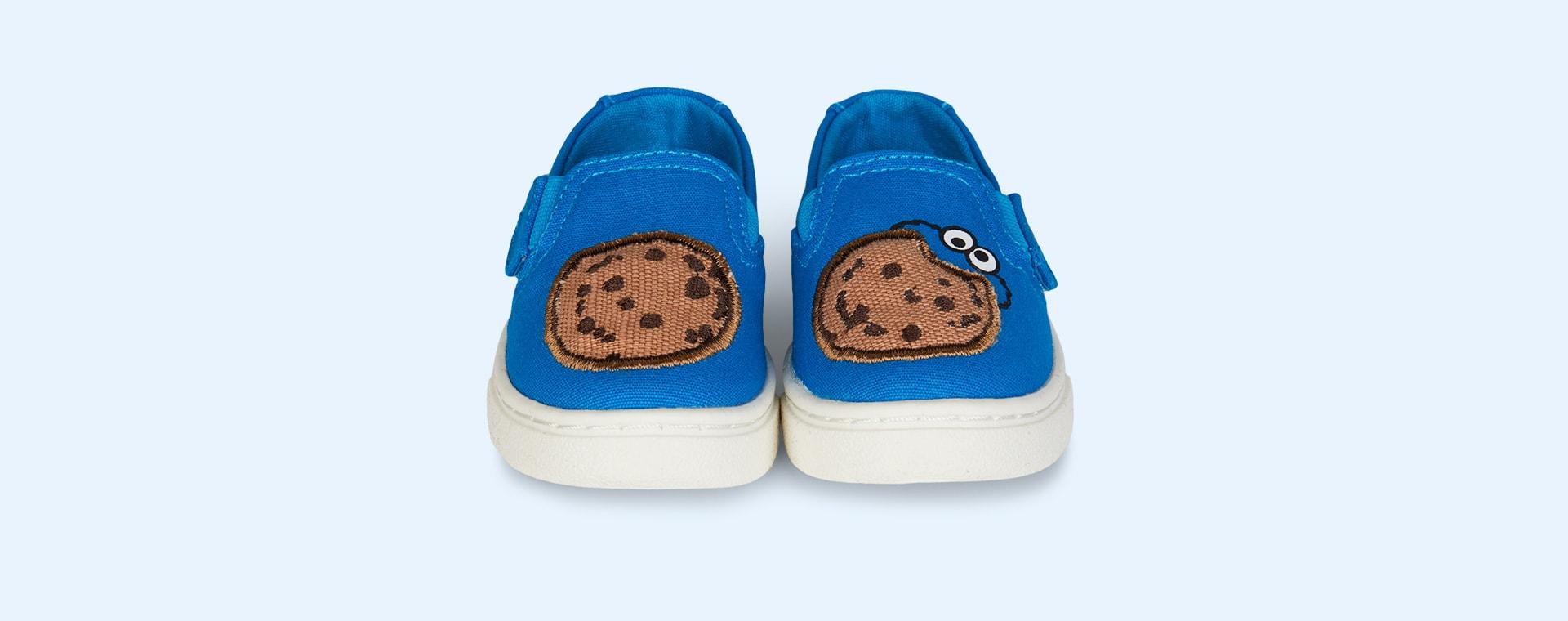 Blue TOMS Sesame Street Cookie Monster Luca Slip Ons