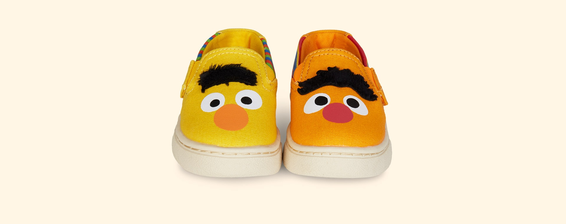 Yellow TOMS Sesame Street Bert and Ernie Luca Slip Ons