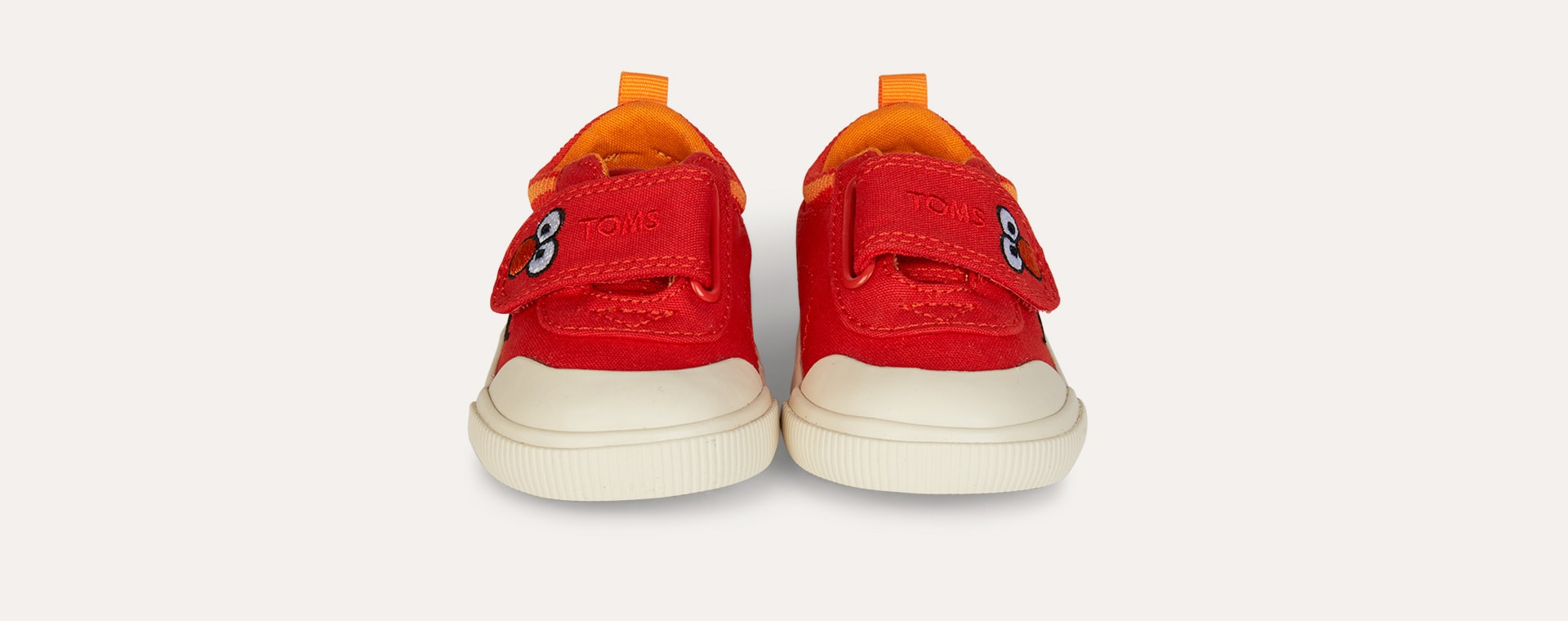 Red TOMS Sesame Street Elmo Doheny Sneaker