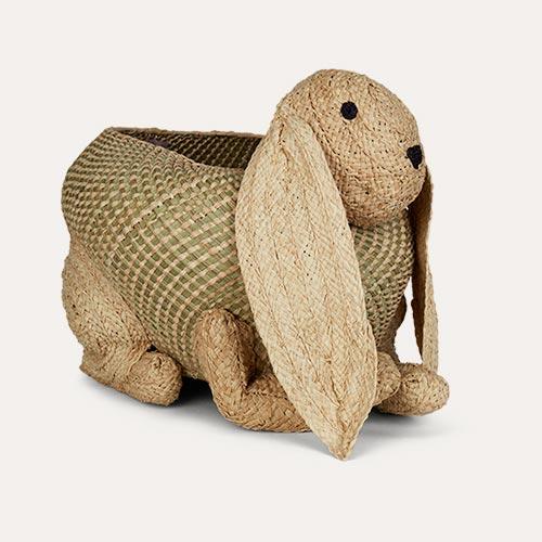 Neutral Rice Bunny Storage Basket